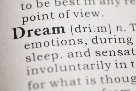 Dictionary definition of the word Dream  Fake Dictionary