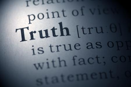 真実の偽の辞書の単語の辞書の定義