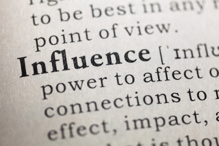 printing out: Dictionary definition of the word influence  Fake Dictionary