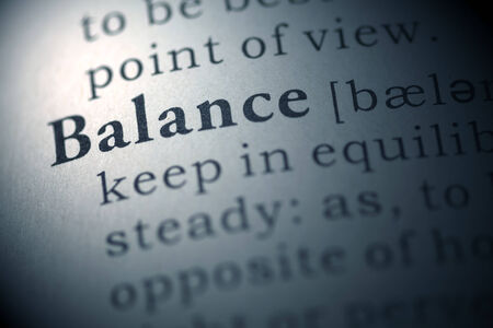 Dictionary definition of the word Balance.