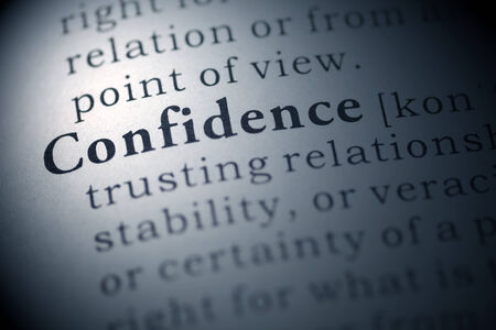 Dictionary definition of the word confidence. Stock Photo - 22829761