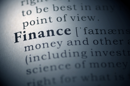 Dictionary definition of the word Finance.