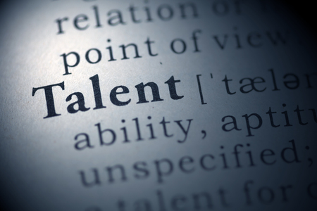 Dictionary definition of the word talent. Stock Photo - 22829768