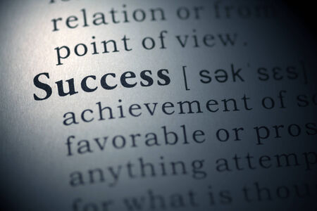 Dictionary definition of the word success.  Stock Photo