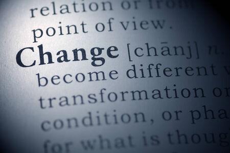 definicion: Definición del diccionario de la palabra cambio. Foto de archivo