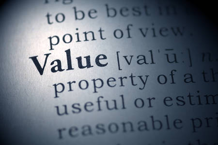 Dictionary definition of the word Value.