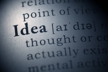 Dictionary definition of the word idea.