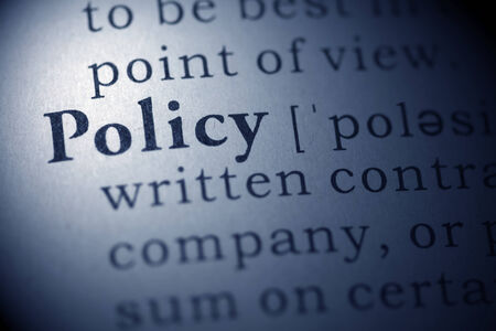 Dictionary definition of the word policy. Stock Photo - 22829784