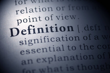 Dictionary definition of the word definition.  Stock Photo