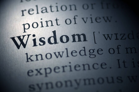 Dictionary definition of the word Wisdom.