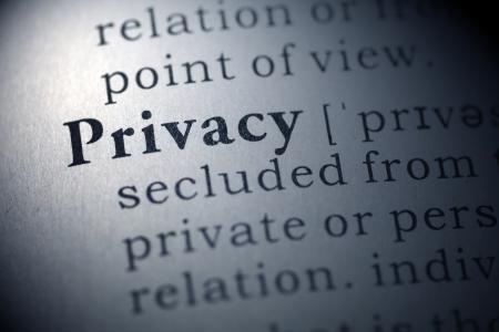 privacy라는 단어의 사전 정의.