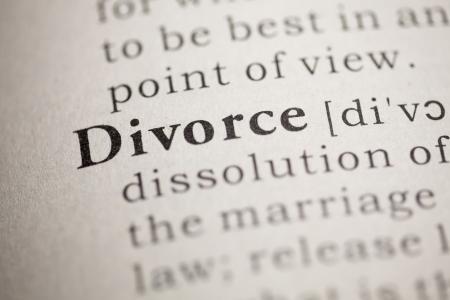 definicion: Diccionario Fake, Definición del diccionario de la palabra divorcio.