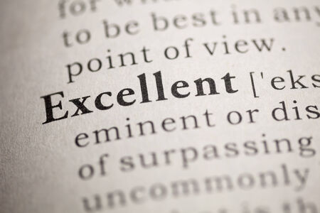 Fake Dictionary, Dictionary definition of the word Excellent. Stock Photo - 22829711