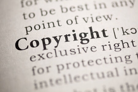 Fake Dictionary, Dictionary definition of the word Copyright. Stock Photo - 22829713