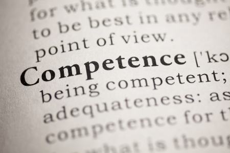 Fake Dictionary, Dictionary definition of the word Competence.