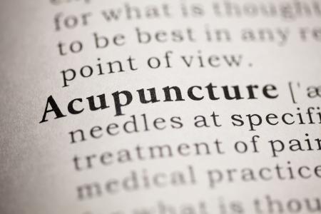 acupuntura china: Diccionario Fake, Definición del diccionario de la palabra acupuntura.