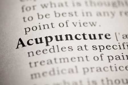 printing out: Fake Dictionary, Dictionary definition of the word Acupuncture.