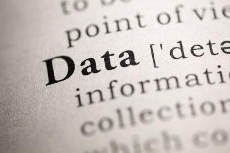 definicion: Diccionario Fake, Definición del diccionario de la palabra de datos.