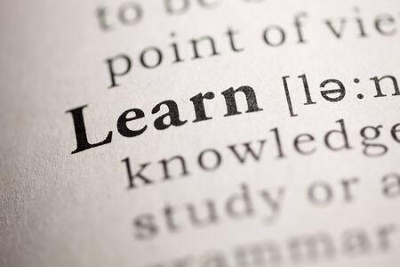 definicion: Diccionario Fake, Definición del diccionario de la palabra aprendizaje.