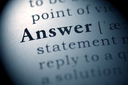 answer: Fake Dictionary, Dictionary definition of the word Answer.