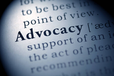 printing out: Fake Dictionary, Dictionary definition of the word Advocacy.