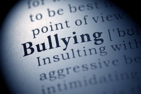 printing out: Fake Dictionary, Dictionary definition of the word Bullying.