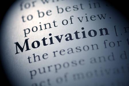 definicion: Diccionario Fake, Definición del diccionario de la palabra motivación.