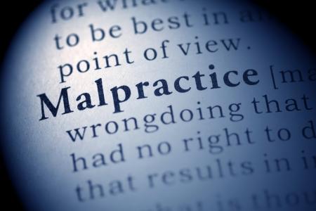 Falso dizionario, la definizione del dizionario della parola Malpractice. Archivio Fotografico - 22829547