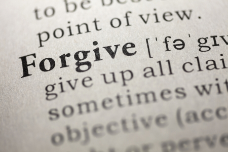 printing out: Dictionary definition of the word Forgive.
