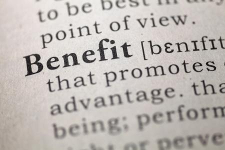 definicion: Definición del diccionario de la palabra beneficio.