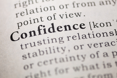 Dictionary definition of the word confidence. Stock Photo - 22898076