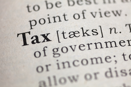 Dictionary definition of the word tax.