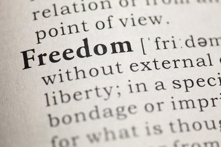 Dictionary definition of the word Freedom.