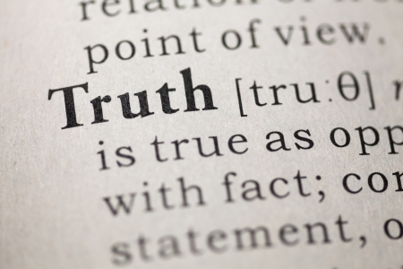 Dictionary definition of the word Truth.