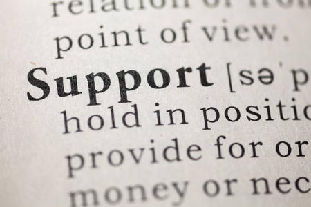 Dictionary definition of the word Support.