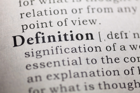 Dictionary definition of the word definition.