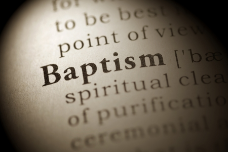 Fake Dictionary, Dictionary definition of the word Baptism.