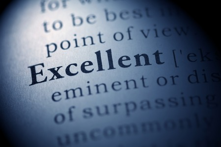 Fake Dictionary, Dictionary definition of the word Excellent. Stock Photo - 22898253