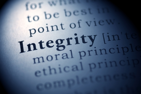 integrity: Fake Dictionary, Dictionary definition of the word Integrity.