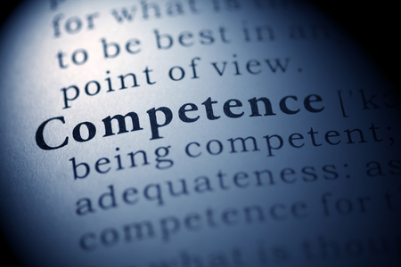 Fake Dictionary, Dictionary definition of the word Competence. Stock Photo - 22898441