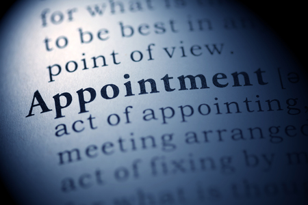 Fake Dictionary, Dictionary definition of the word Appointment.