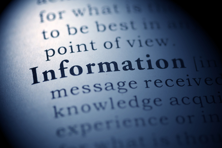 Fake Dictionary, Dictionary definition of the word Information. Stock Photo - 22898447