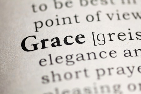 Fake Dictionary, Dictionary definition of the word Grace. Stock fotó