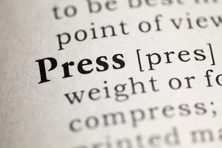 Fake Dictionary, Dictionary definition of the word Press.