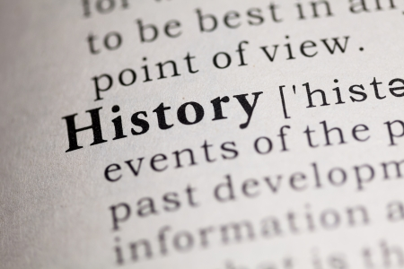 Fake Dictionary, Dictionary definition of the word History.