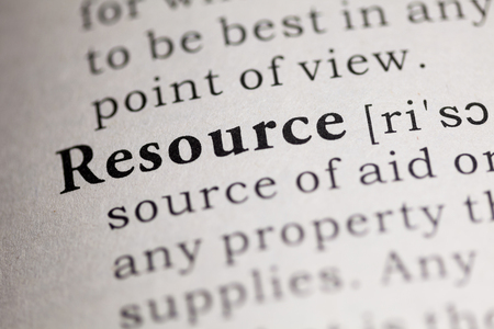 word: Fake Dictionary, Dictionary definition of the word Resource.