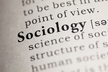 sociology: Fake Dictionary, Dictionary definition of the word Sociology. Stock Photo