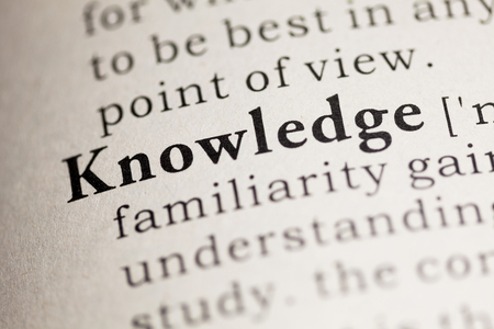 Fake Dictionary, Dictionary definition of the word Knowledge.