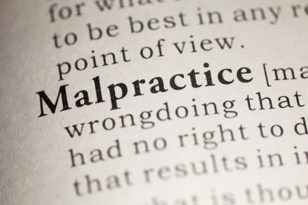 Fake Dictionary, Dictionary definition of the word Malpractice.