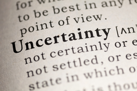 uncertainty: Fake Dictionary, Dictionary definition of the word Uncertainty.